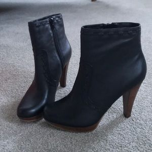 Guess by Marciano Black Leather High Heel Boots
